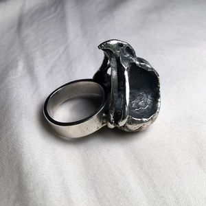 Bird/raven/crow Skull Silver Ring
